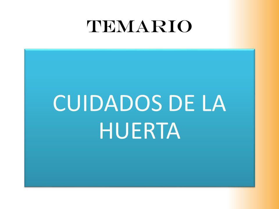 TEMARIO CUIDADOS DE LA HUERTA
