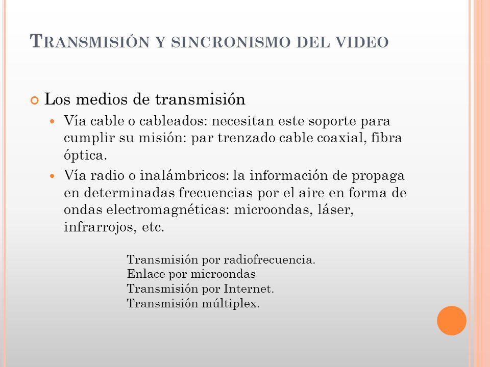 Transmisión y sincronismo del video