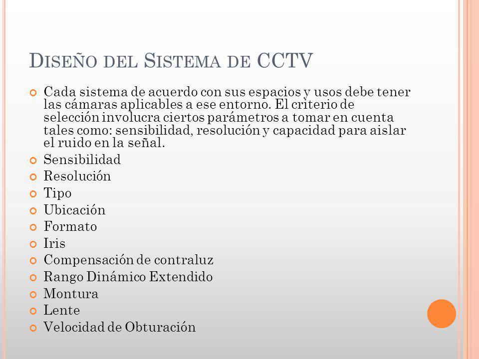 Diseño del Sistema de CCTV