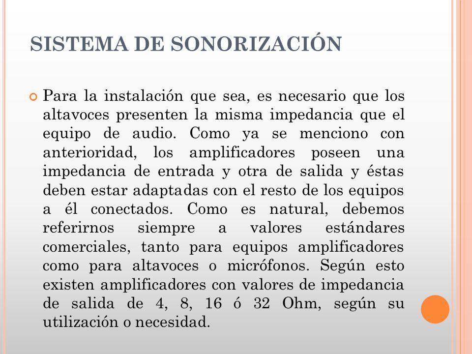 SISTEMA DE SONORIZACIÓN