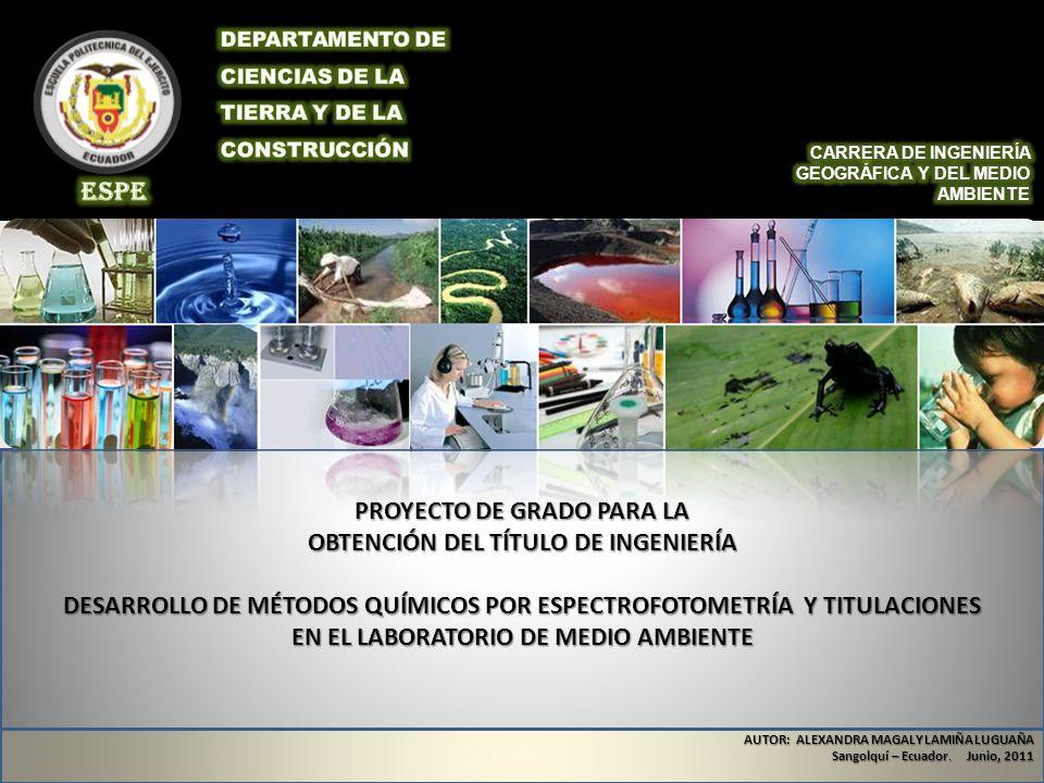 PROYECTO DE GRADO PARA LA OBTENCIÓN DEL TÍTULO DE INGENIERÍA