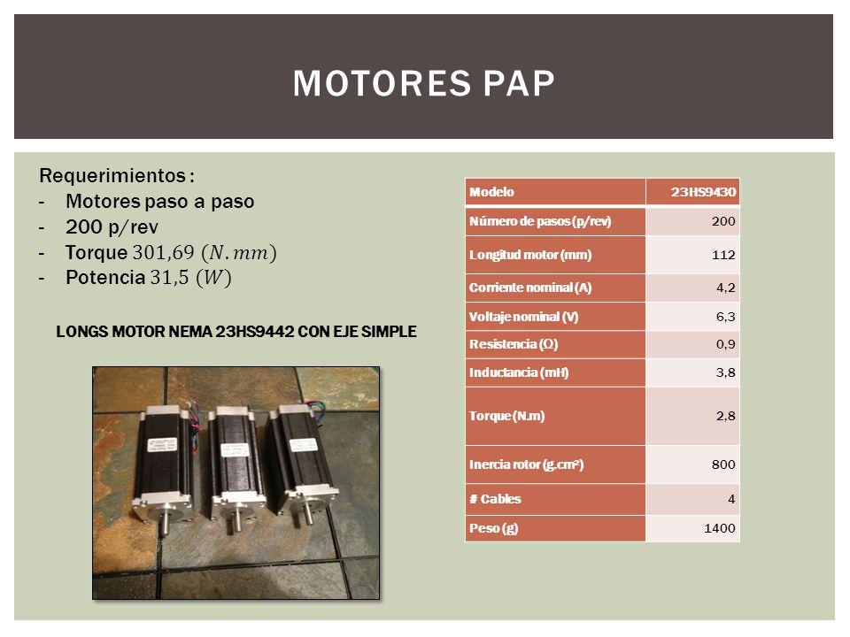LONGS MOTOR NEMA 23HS9442 CON EJE SIMPLE