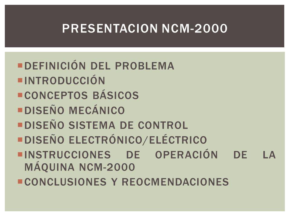 PRESENTACION NCM-2000 DEFINICIÓN DEL PROBLEMA INTRODUCCIÓN