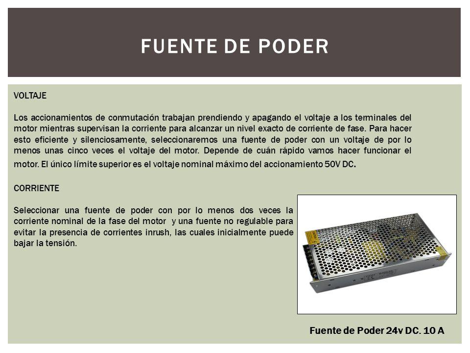 FUENTE DE PODER Fuente de Poder 24v DC. 10 A VOLTAJE