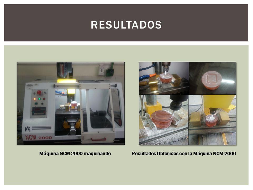Resultados Obtenidos con la Máquina NCM-2000