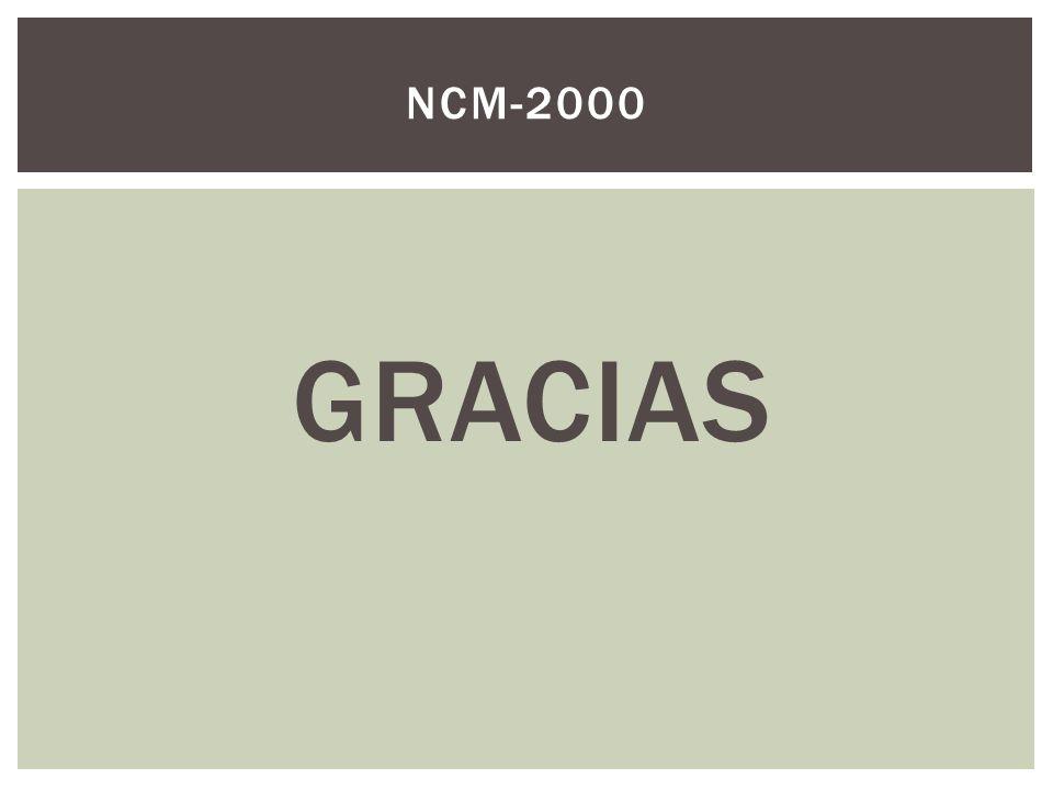 NCM-2000 GRACIAS