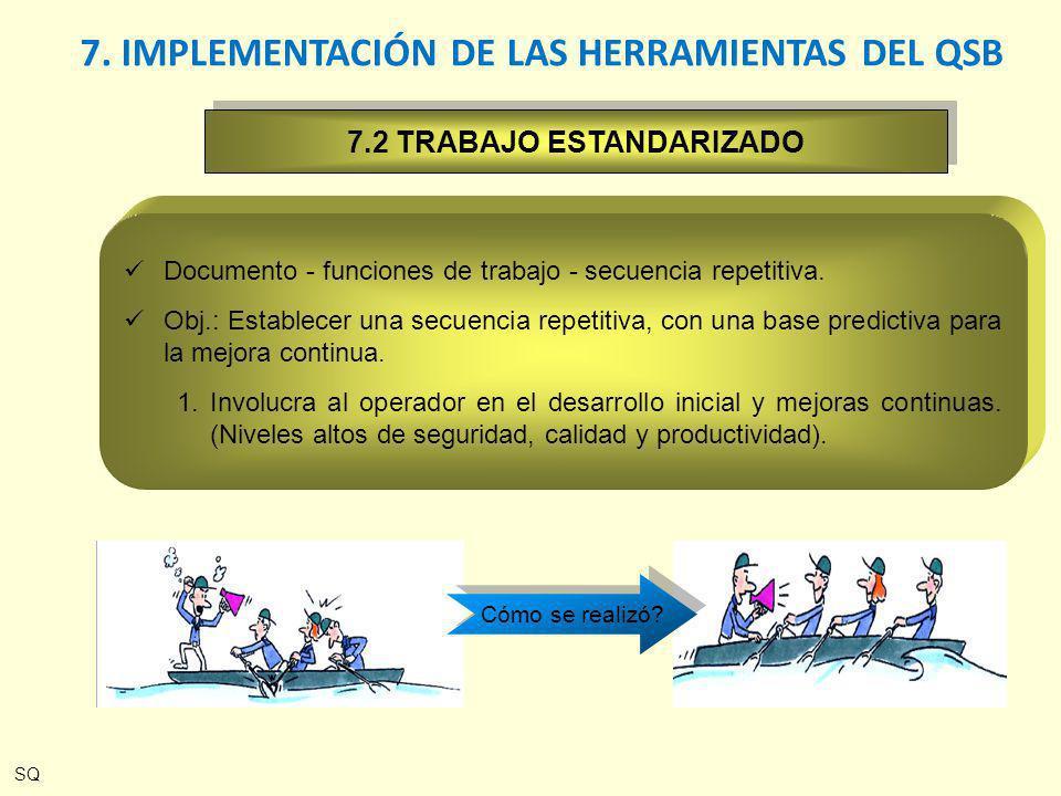 7. IMPLEMENTACIÓN DE LAS HERRAMIENTAS DEL QSB