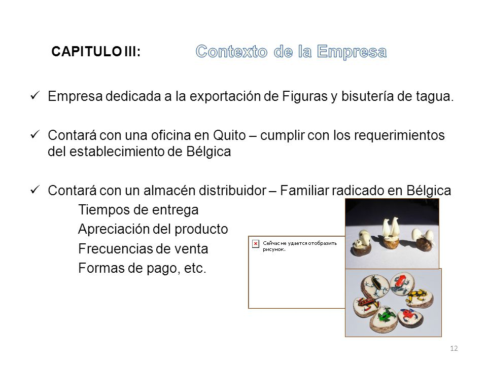 Contexto de la Empresa CAPITULO III: