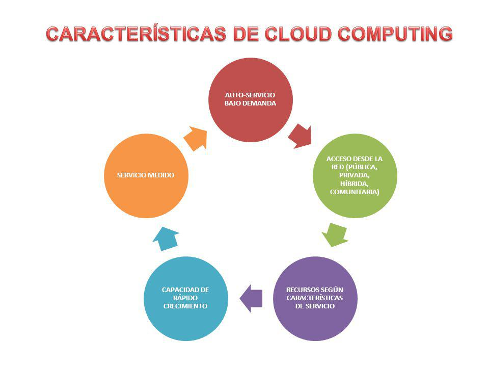 CARACTERÍSTICAS DE CLOUD COMPUTING