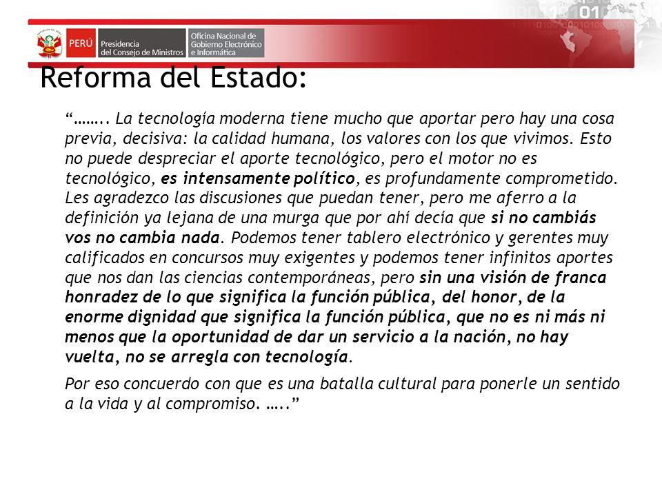 Reforma del Estado: