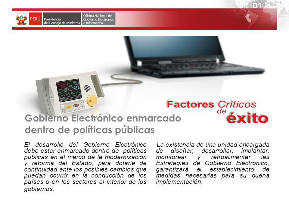 Gobierno Electrónico enmarcado dentro de políticas públicas