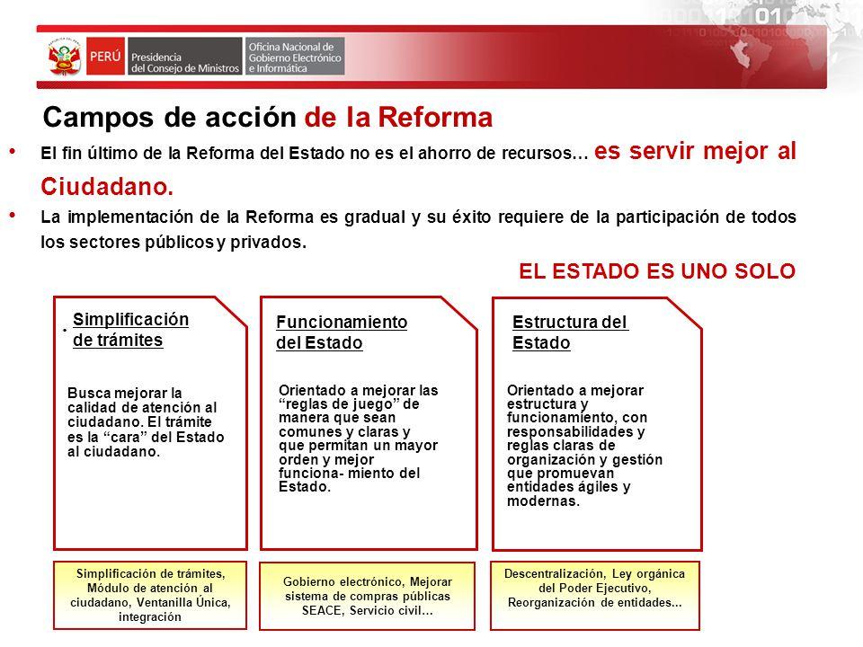 Campos de acción de la Reforma