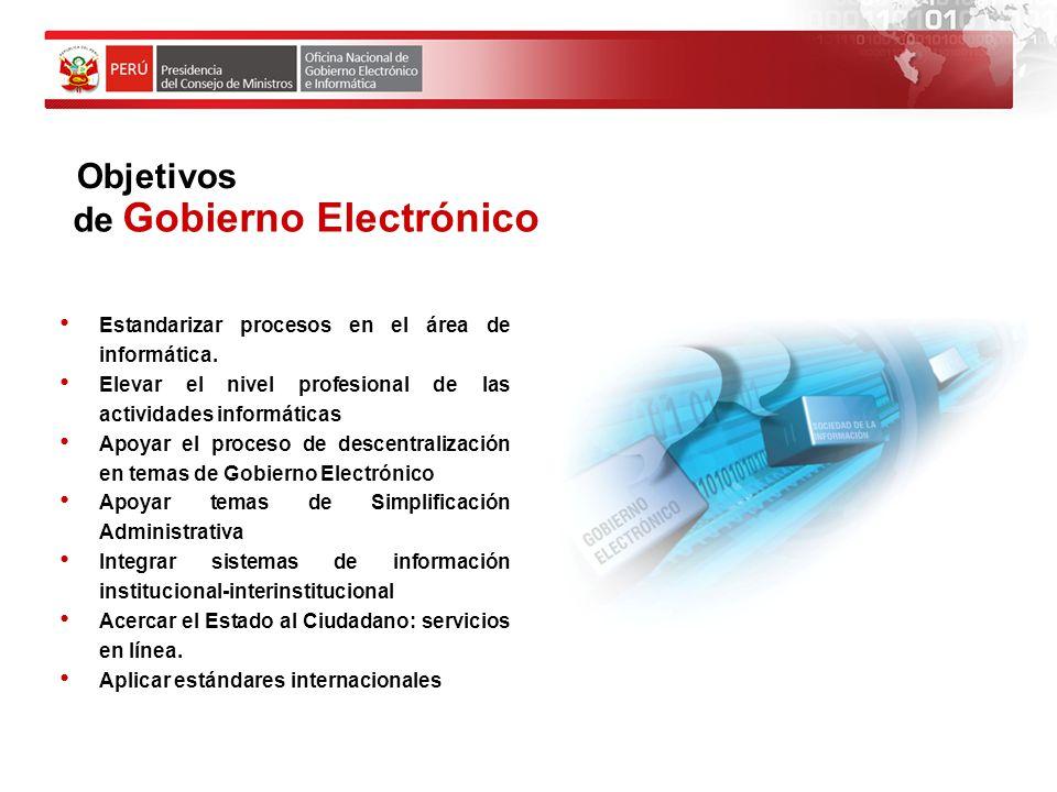 de Gobierno Electrónico