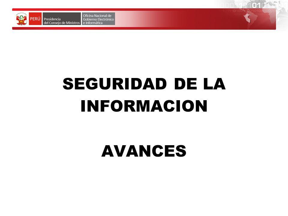 SEGURIDAD DE LA INFORMACION AVANCES