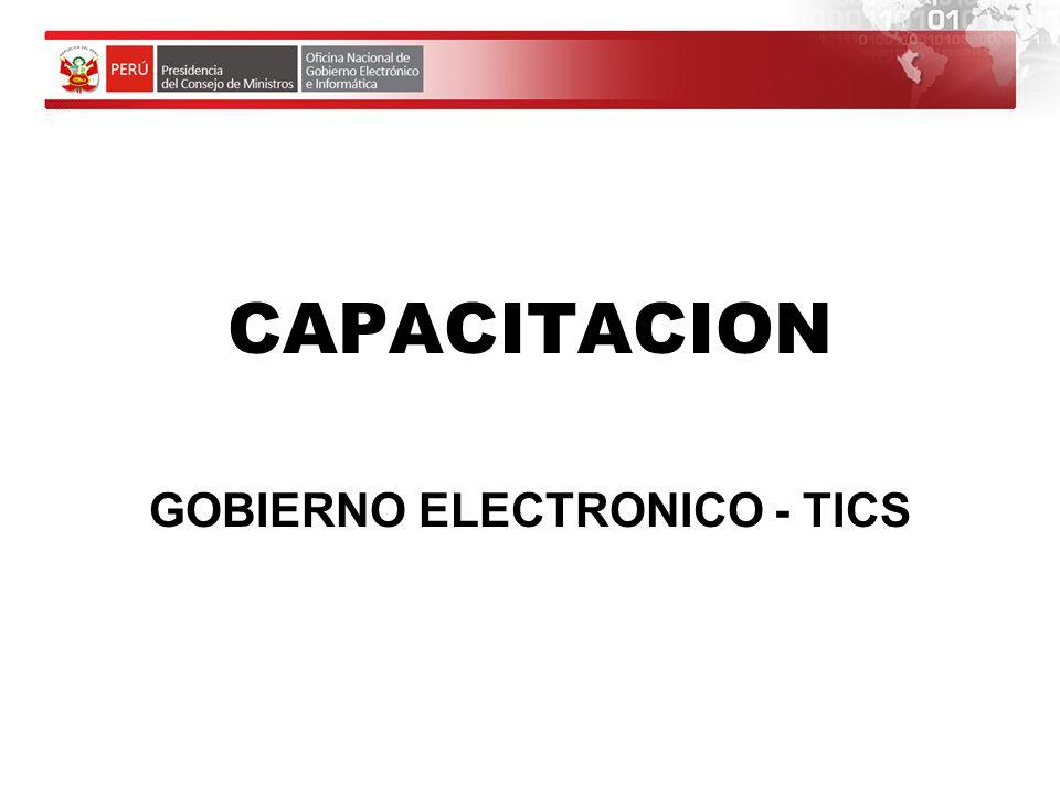 GOBIERNO ELECTRONICO - TICS