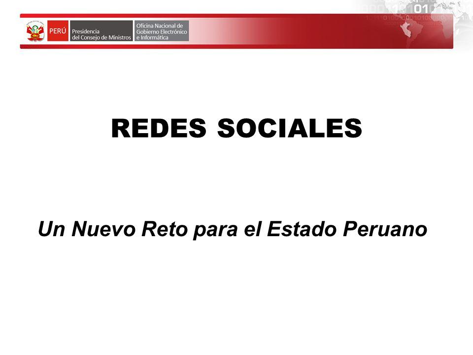 Un Nuevo Reto para el Estado Peruano