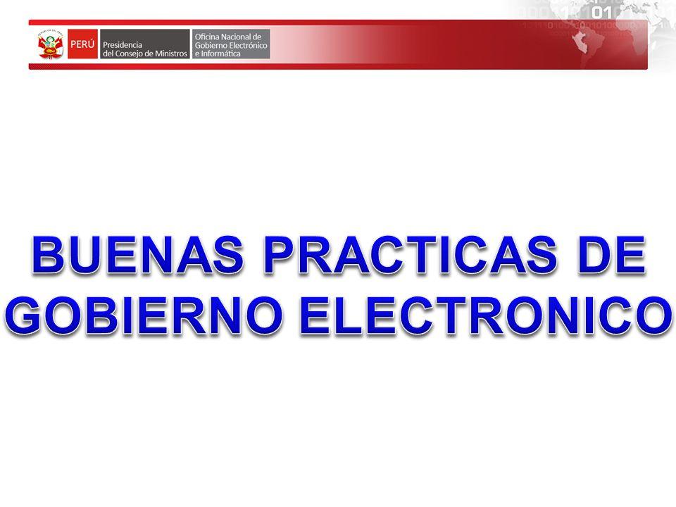 BUENAS PRACTICAS DE GOBIERNO ELECTRONICO