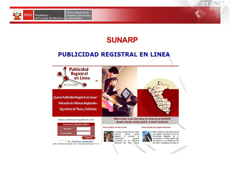 SUNARP www.ccidep.gob.pe