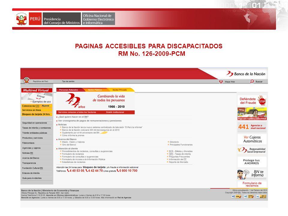 PAGINAS ACCESIBLES PARA DISCAPACITADOS