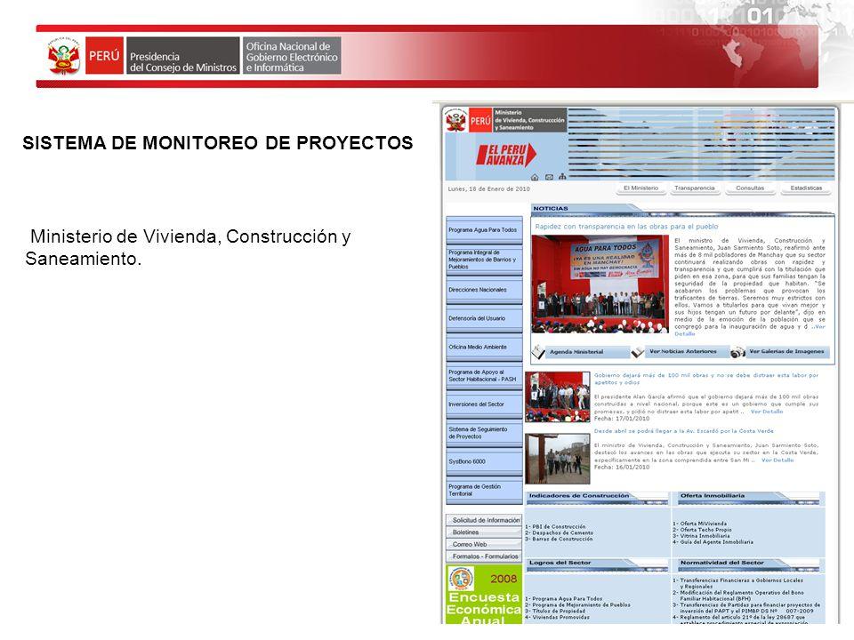SISTEMA DE MONITOREO DE PROYECTOS