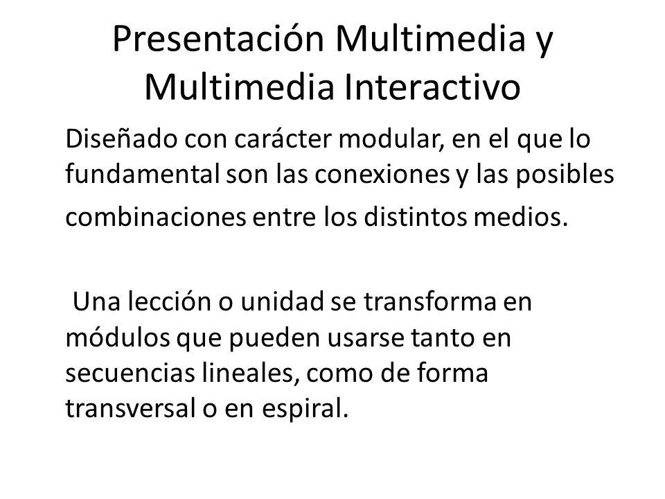 Presentación Multimedia y Multimedia Interactivo
