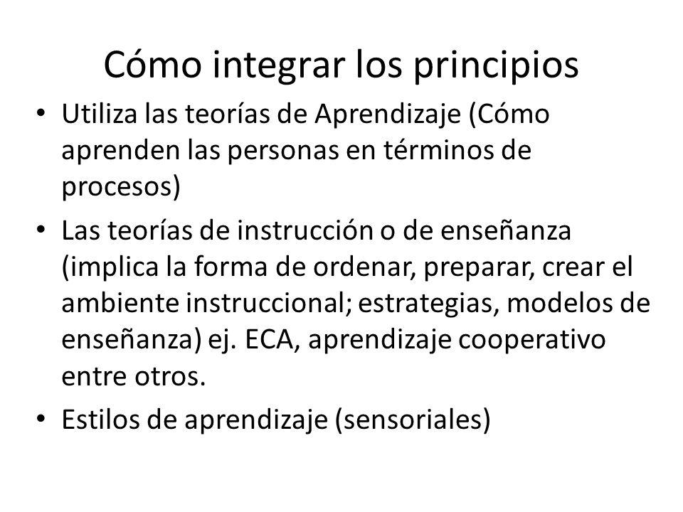 Cómo integrar los principios