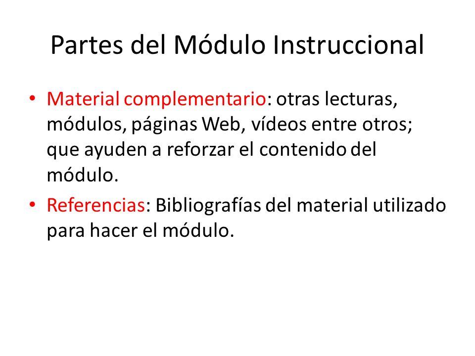 Partes del Módulo Instruccional
