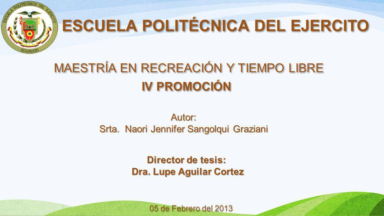 ESCUELA POLITÉCNICA DEL EJERCITO Dra. Lupe Aguilar Cortez