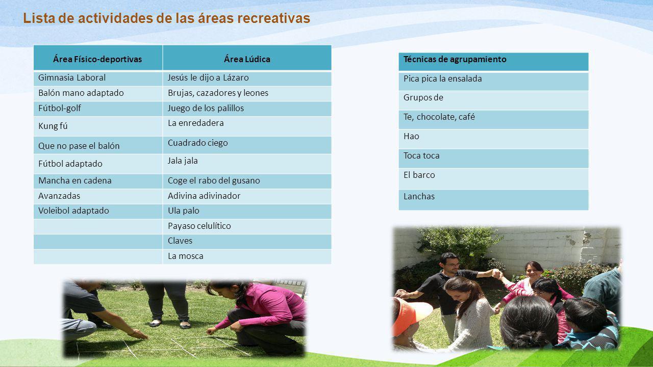 Área Físico-deportivas