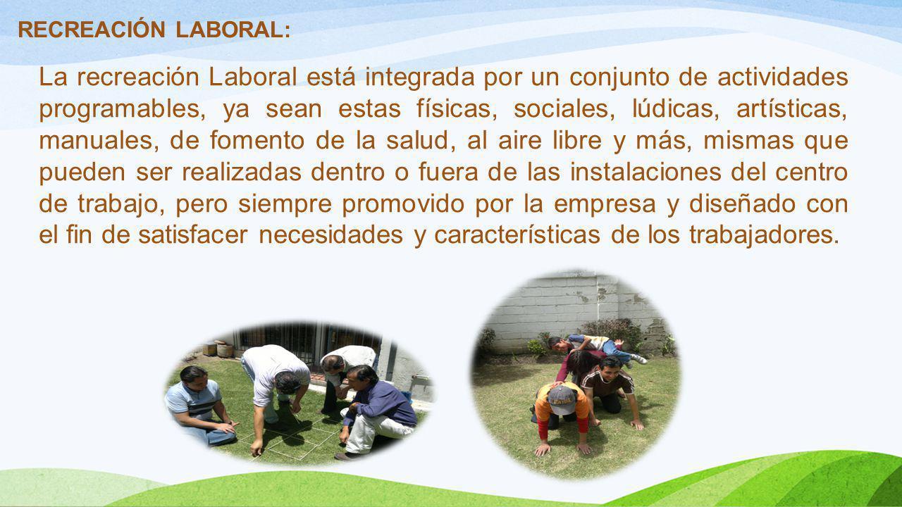 RECREACIÓN LABORAL: