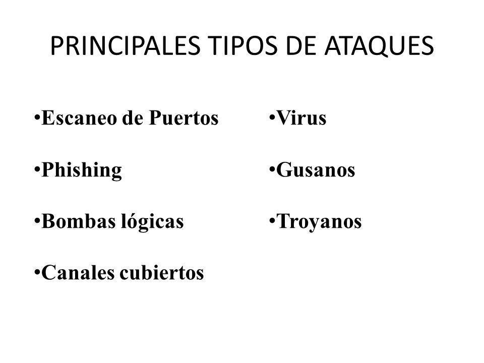 PRINCIPALES TIPOS DE ATAQUES