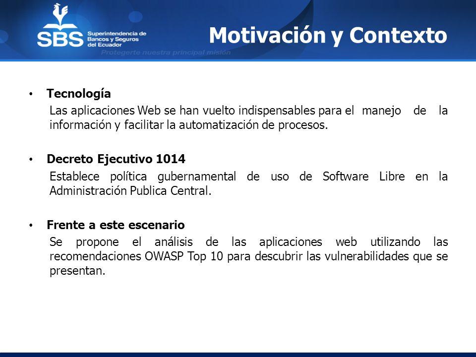 Motivación y Contexto Tecnología