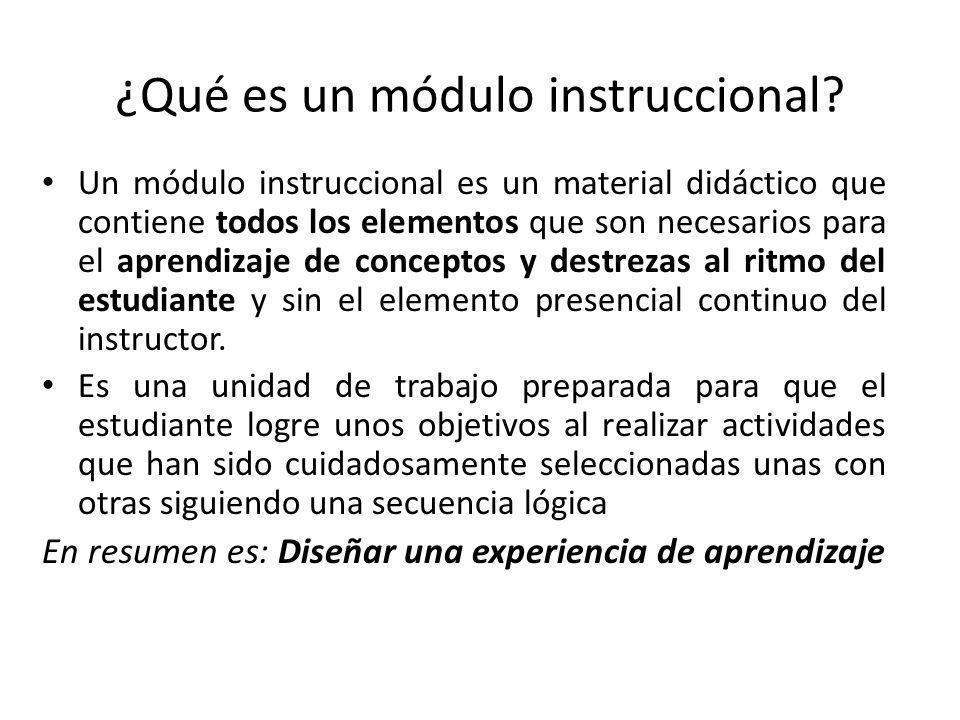 ¿Qué es un módulo instruccional