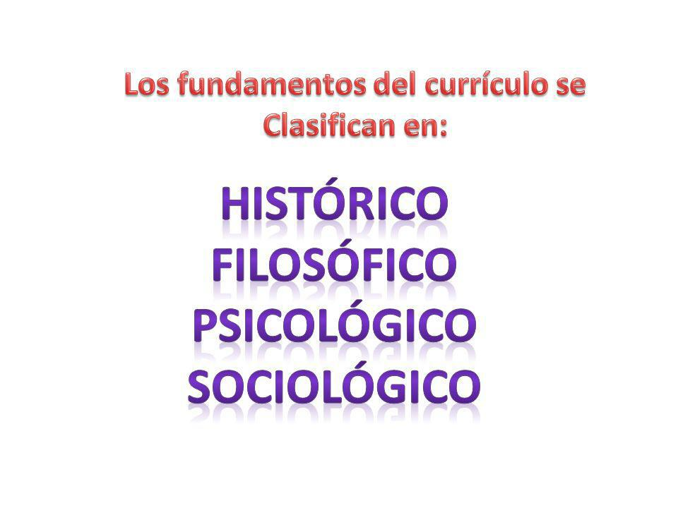 Los fundamentos del currículo se