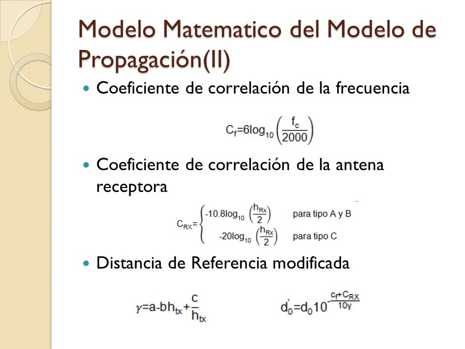 Modelo Matematico del Modelo de Propagación(II)