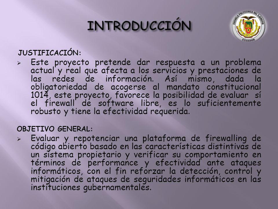 INTRODUCCIÓN JUSTIFICACIÓN: