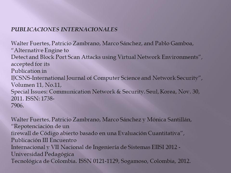 PUBLICACIONES INTERNACIONALES