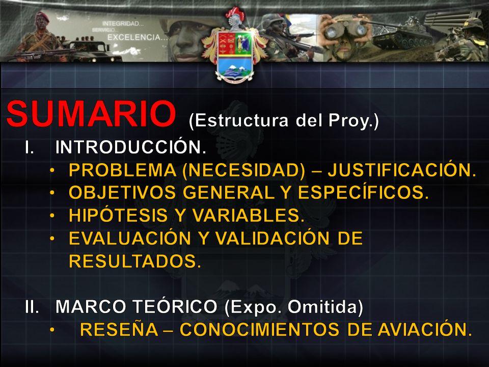 SUMARIO (Estructura del Proy.)