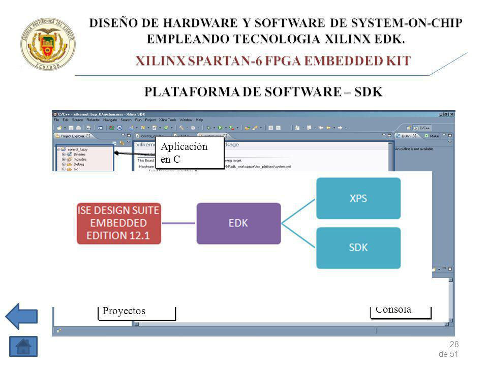 XILINX SPARTAN-6 FPGA EMBEDDED KIT PLATAFORMA DE SOFTWARE – SDK