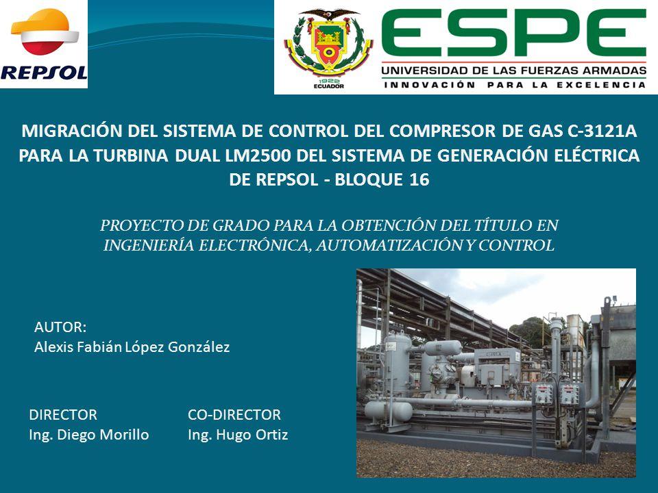 MIGRACIÓN DEL SISTEMA DE CONTROL DEL COMPRESOR DE GAS C-3121A PARA LA TURBINA DUAL LM2500 DEL SISTEMA DE GENERACIÓN ELÉCTRICA DE REPSOL - BLOQUE 16