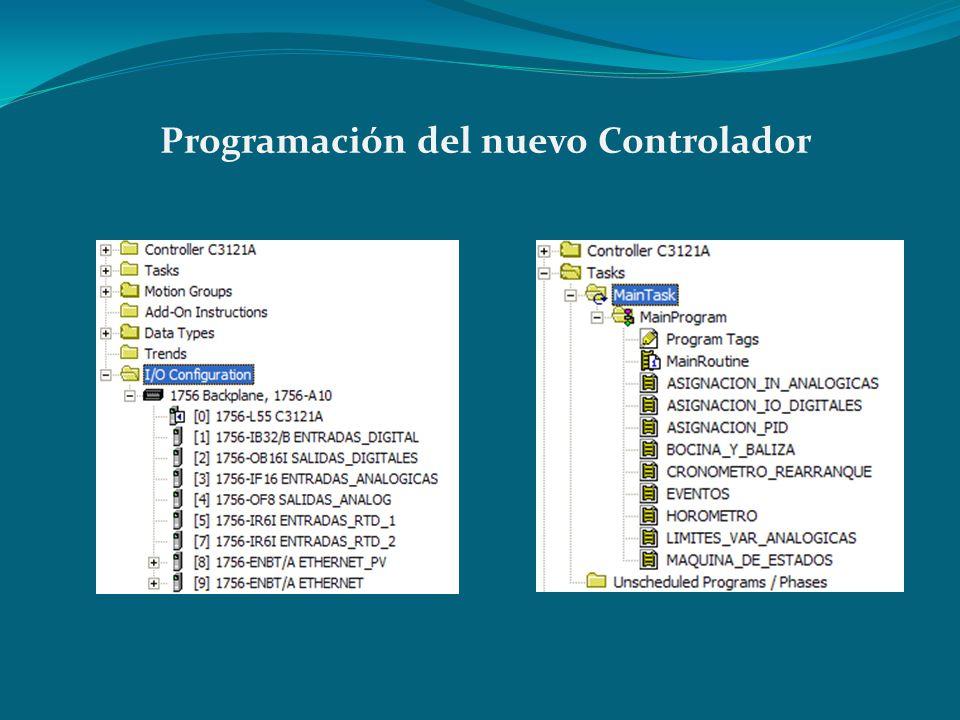 Programación del nuevo Controlador