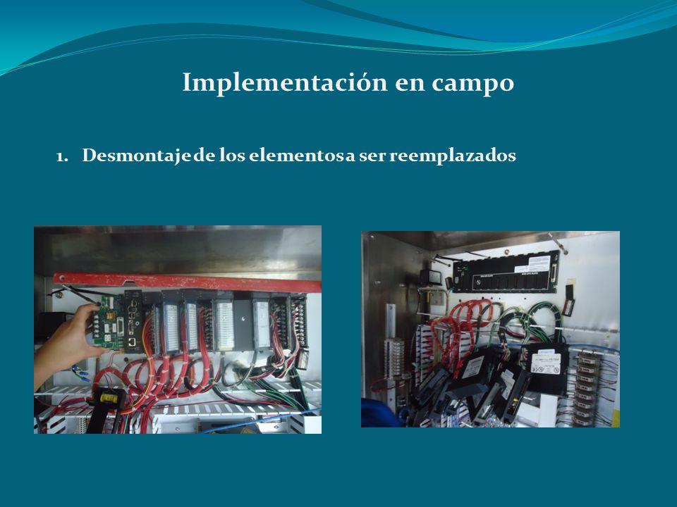 Implementación en campo