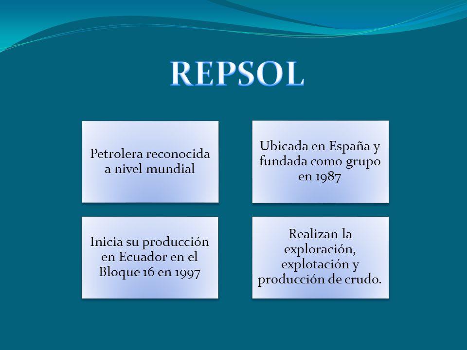 REPSOL Ubicada en España y fundada como grupo en 1987
