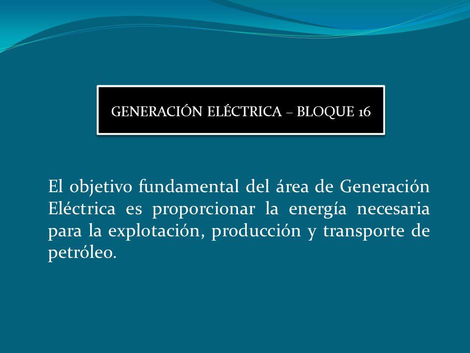 GENERACIÓN ELÉCTRICA – BLOQUE 16