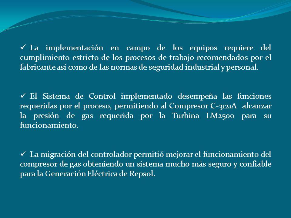 La implementación en campo de los equipos requiere del cumplimiento estricto de los procesos de trabajo recomendados por el fabricante así como de las normas de seguridad industrial y personal.