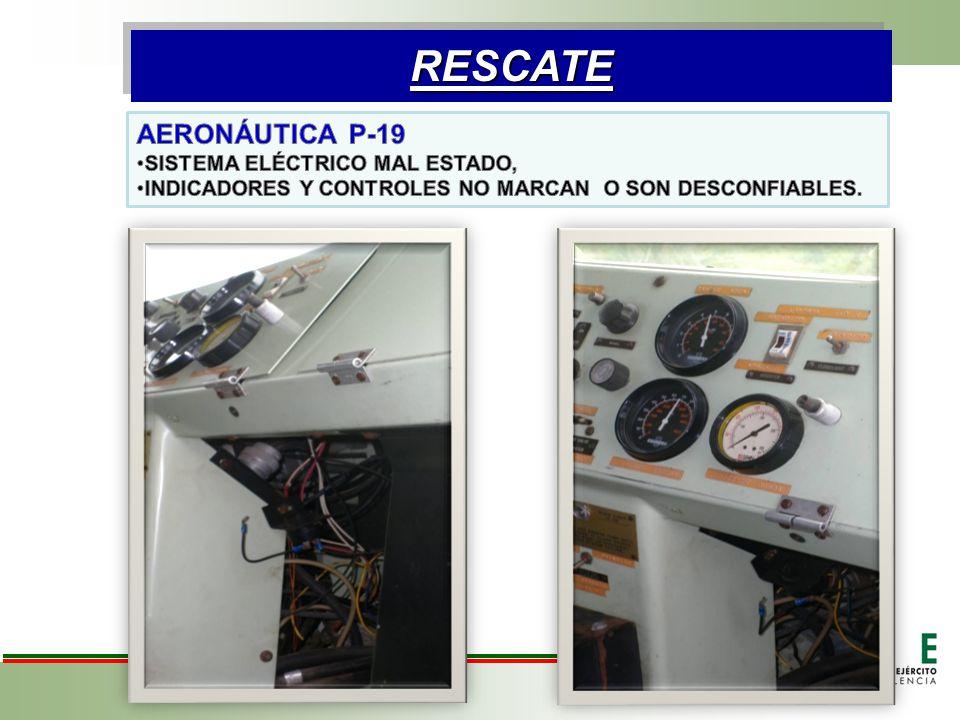 RESCATE AERONÁUTICA P-19 SISTEMA ELÉCTRICO MAL ESTADO,