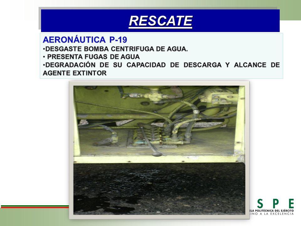 RESCATE AERONÁUTICA P-19 DESGASTE BOMBA CENTRIFUGA DE AGUA.