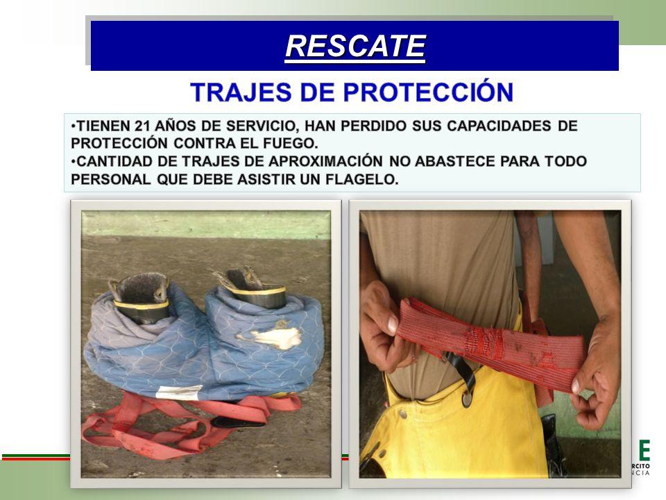 RESCATE TRAJES DE PROTECCIÓN