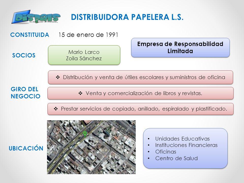 DISTRIBUIDORA PAPELERA L.S. Empresa de Responsabilidad Limitada