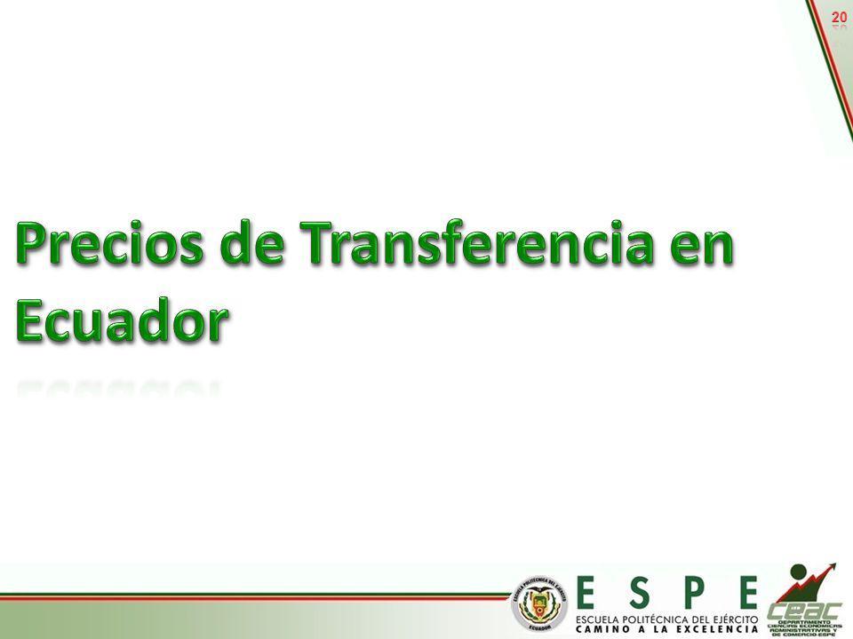 Precios de Transferencia en Ecuador